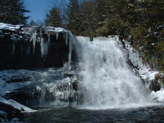 Winter at Swallow Falls State Park