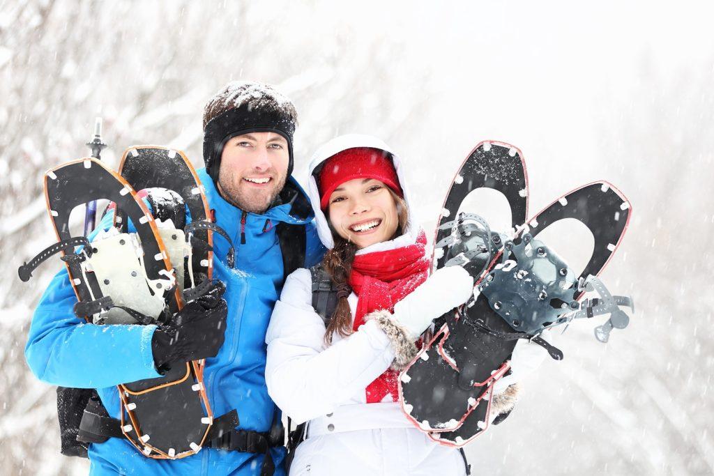 Snowshoeing at Wisp Resort near our Deep Creek Lake Hotel